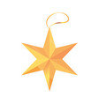 happy merry christmas gold star ornament vector image vector image
