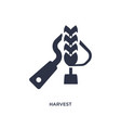 harvest icon on white background simple element vector image vector image
