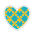 heart puzzle solution image vector image vector image