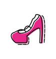 heel shoe of female isolated icon vector image vector image