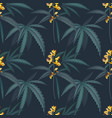 hemp foliage vintage pattern tropical jungle vector image vector image