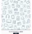 home electronics wallpaper black and white vector image vector image