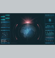 hud hi-tech futuristic display tech and science vector image vector image