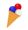 ice cream icon flat style 4th july concept vector image vector image