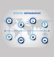 infographic design with winter icons vector image vector image