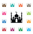 isolated mohammedanism icon culture vector image vector image