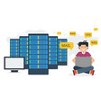 long banner - web hosting administration vector image vector image
