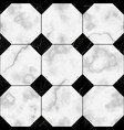 marble luxury check seamless pattern vector image vector image