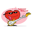 Musical Heart With Notes Singing And Playing vector image