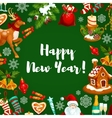 New Year holiday poster design vector image vector image