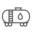 oil tank line icon industy and container fuel vector image vector image