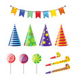 party elements - realistic set of holiday vector image vector image
