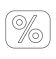 percentage symbol financial flat icon vector image