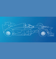 race car wire-frame eps10 format created vector image vector image