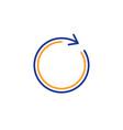 refresh line icon rotation arrow sign vector image