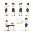 set character businesswomen vector image vector image