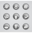 Set of fast food icons vector image vector image