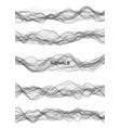 set signals music or energy waves generated vector image