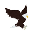 Silhouette eagle in hunting position vector image