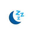 sleep logo icon design vector image vector image