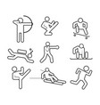 sport abstract outline symbol graphic set vector image