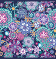summer doodle floral pattern vector image vector image
