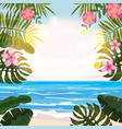 summer tropical background with exotic floral vector image vector image