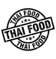 thai food round grunge black stamp vector image vector image