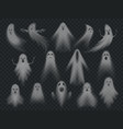 transparent ghost horror spooky ghosts halloween vector image vector image