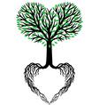 tree life heart tree vector image vector image