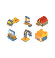 warehouse equipment delivery and cargo vector image