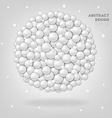 White abstract circles in sphere vector image