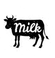 white silhouette cow head with grunge scratched vector image vector image