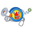 with megaphone yoyo character cartoon style vector image vector image