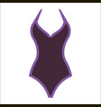 woman fashion summer swimsuit vector image vector image