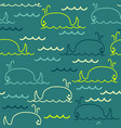 abstract sea background with seamless pattern of vector image