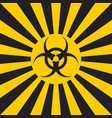 biological hazard sign dangerous pop art style vector image