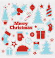 christmas printable stickers fashion patches vector image