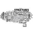 a look at metal gazebos text word cloud concept vector image vector image