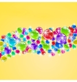 background with colorful bubbles vector image