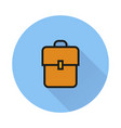 backpack book bag icon on round background