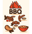 bbq collection vector image vector image