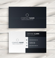 black and white business card vector image vector image