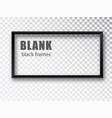 black rectangular realistic empty picture frame on vector image vector image
