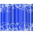 blue background with snowflakes illustratio vector image vector image