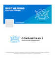 blue business logo template for anthropometry vector image