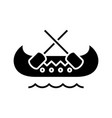 boating black icon concept vector image