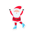 bright and cheerful santa claus is skating and vector image