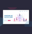 business team work website landing page group of vector image vector image