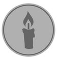 candle silver coin vector image vector image